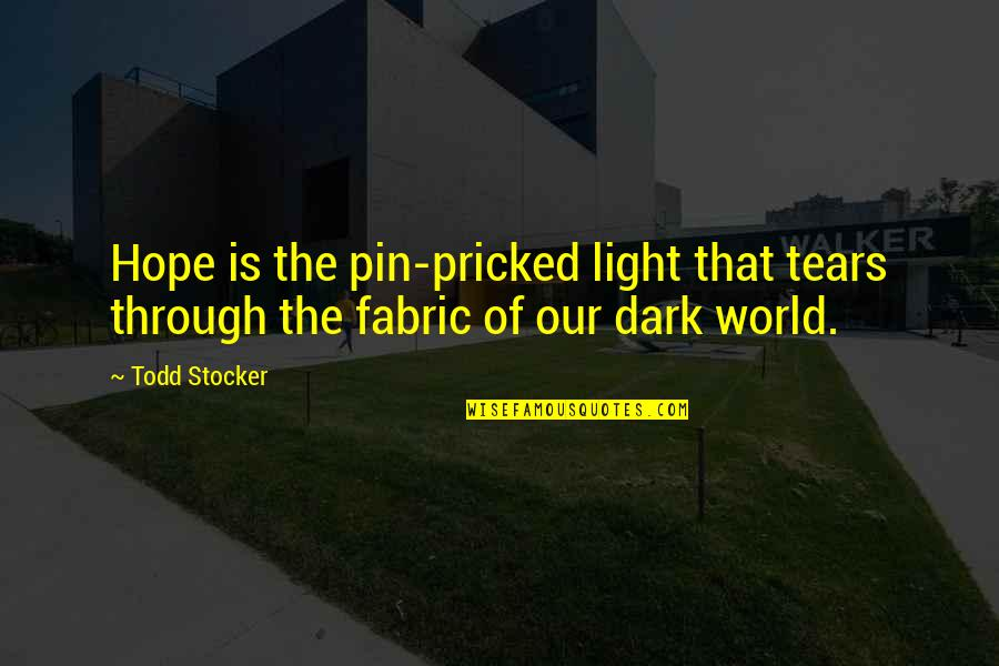 Pee Wee Herman Quotes By Todd Stocker: Hope is the pin-pricked light that tears through