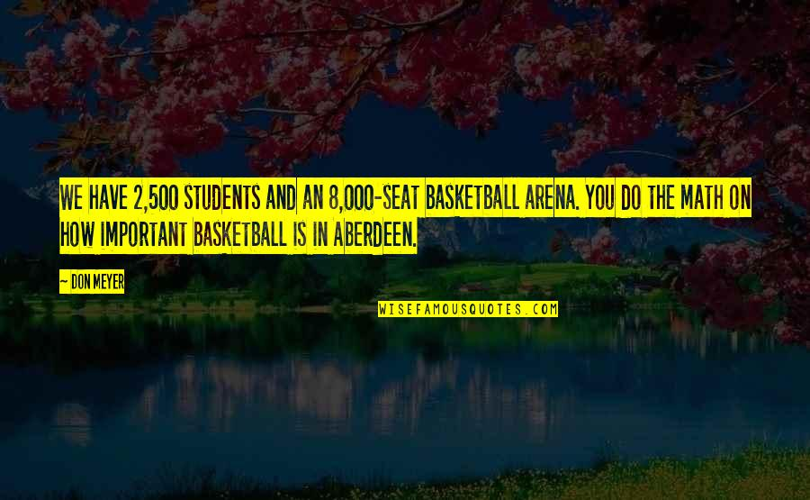 Peer Mentorship Quotes By Don Meyer: We have 2,500 students and an 8,000-seat basketball