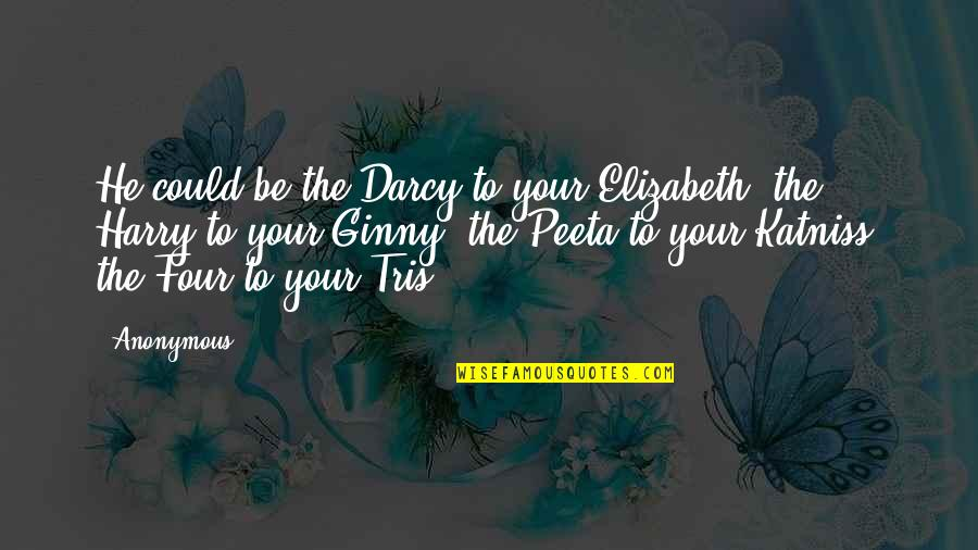 Peeta Quotes By Anonymous: He could be the Darcy to your Elizabeth,