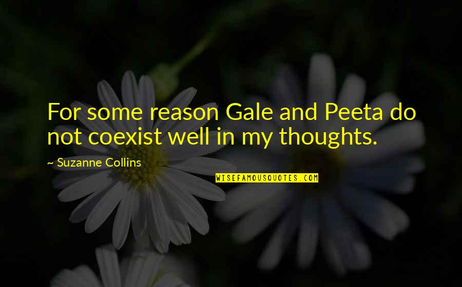 Peeta Quotes By Suzanne Collins: For some reason Gale and Peeta do not