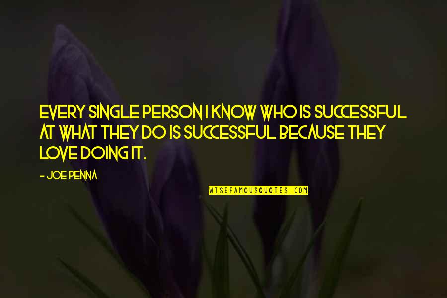 Penna Quotes By Joe Penna: Every single person I know who is successful