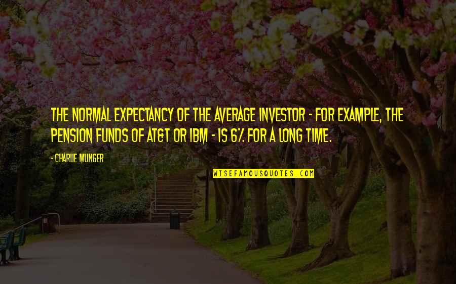 Pension Quotes By Charlie Munger: The normal expectancy of the average investor -