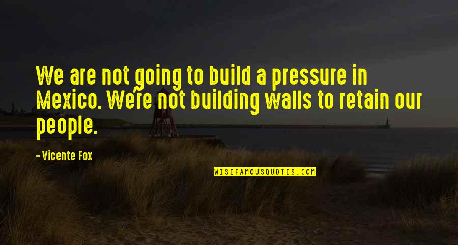 People're Quotes By Vicente Fox: We are not going to build a pressure