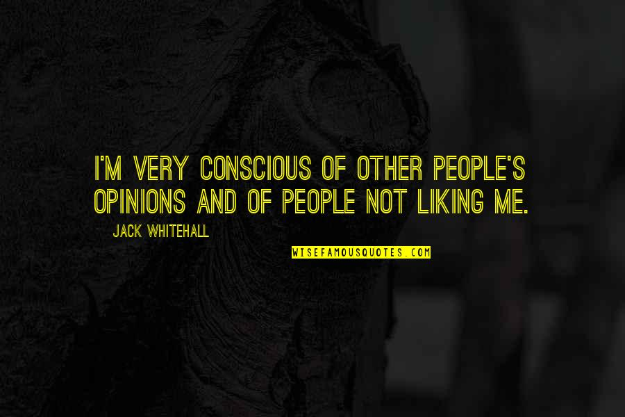People's Opinions Quotes By Jack Whitehall: I'm very conscious of other people's opinions and