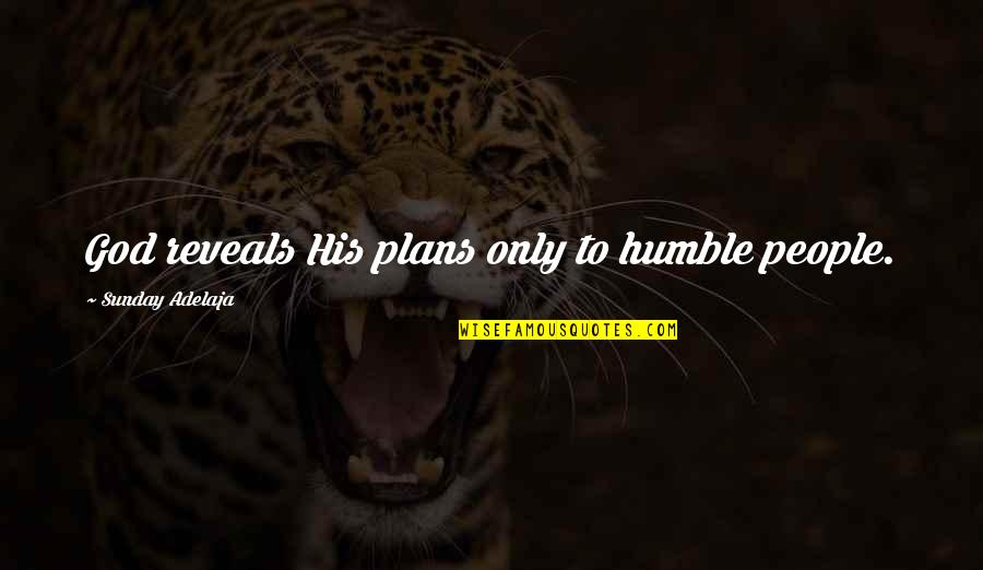 Peptide Quotes By Sunday Adelaja: God reveals His plans only to humble people.