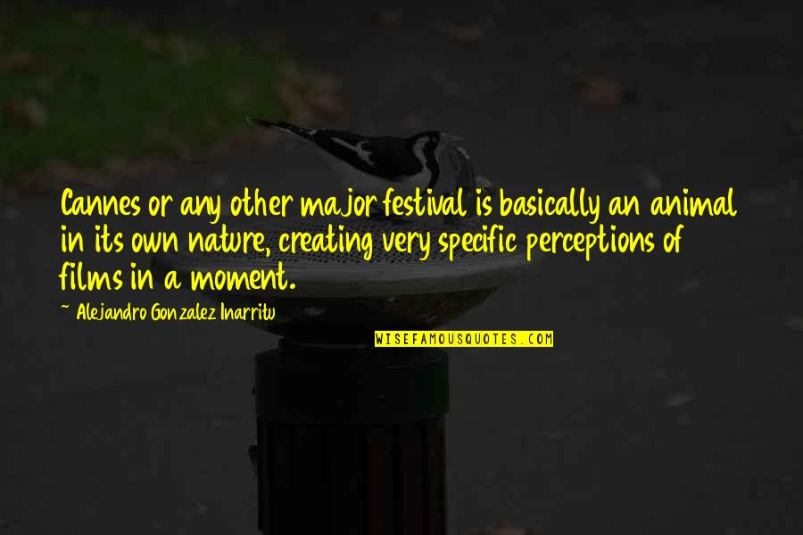 Perceptions Quotes By Alejandro Gonzalez Inarritu: Cannes or any other major festival is basically