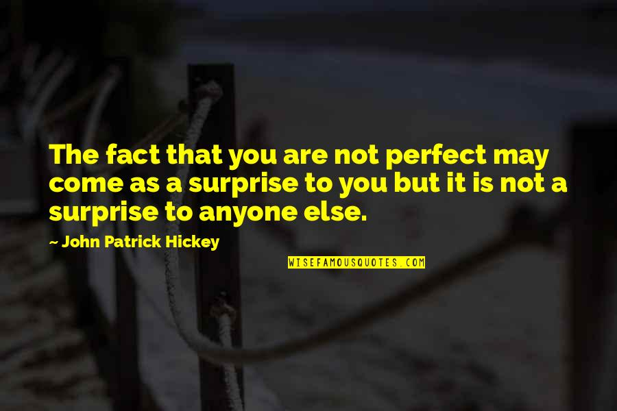 Perfect As You Are Quotes By John Patrick Hickey: The fact that you are not perfect may