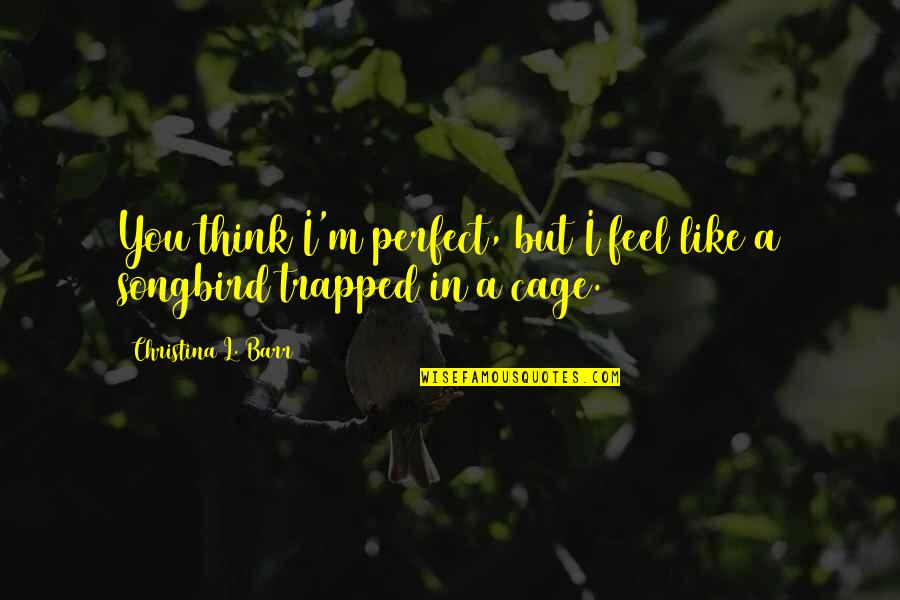 Perfect Opposites Quotes By Christina L. Barr: You think I'm perfect, but I feel like