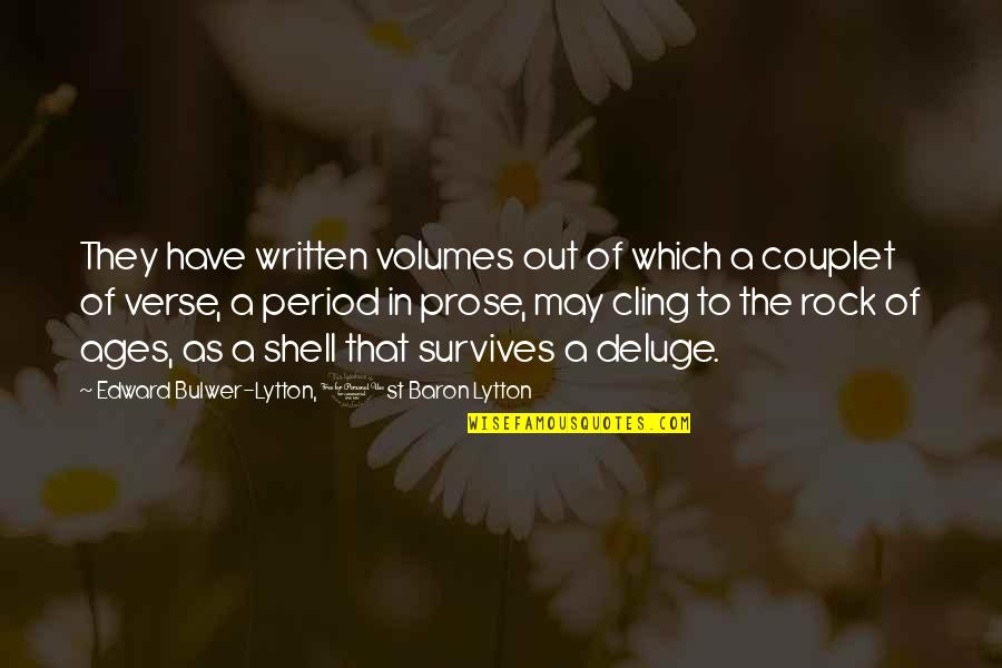 Period In Out Of Quotes By Edward Bulwer-Lytton, 1st Baron Lytton: They have written volumes out of which a