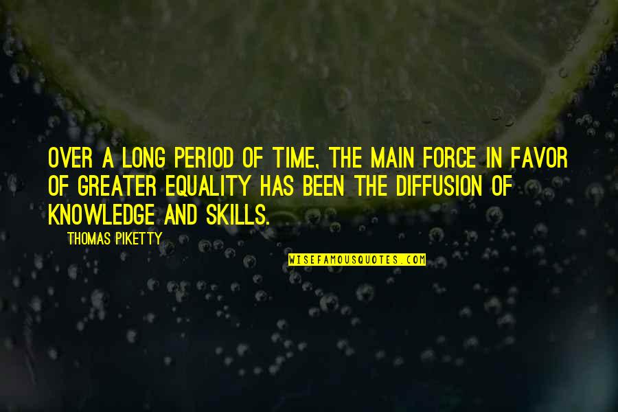 Period In Out Of Quotes By Thomas Piketty: Over a long period of time, the main