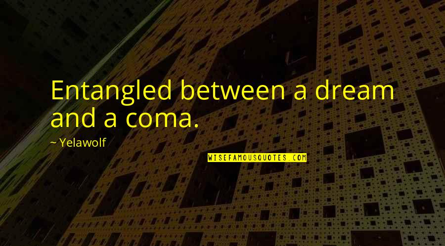 Perl Tokenize Quotes By Yelawolf: Entangled between a dream and a coma.
