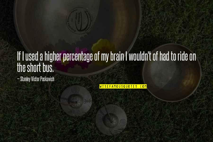 Persephone And Hades Quotes By Stanley Victor Paskavich: If I used a higher percentage of my