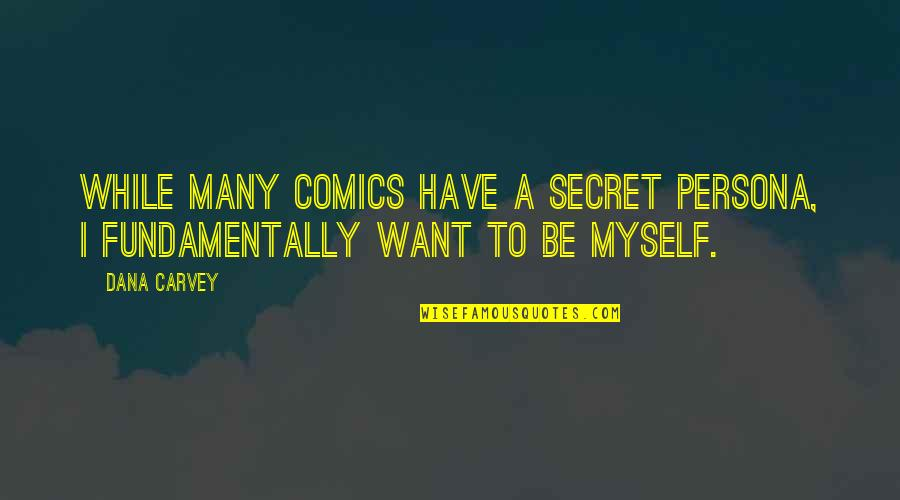 Persona Quotes By Dana Carvey: While many comics have a secret persona, I