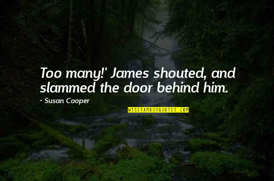 Personal Relationship With Christ Quotes By Susan Cooper: Too many!' James shouted, and slammed the door