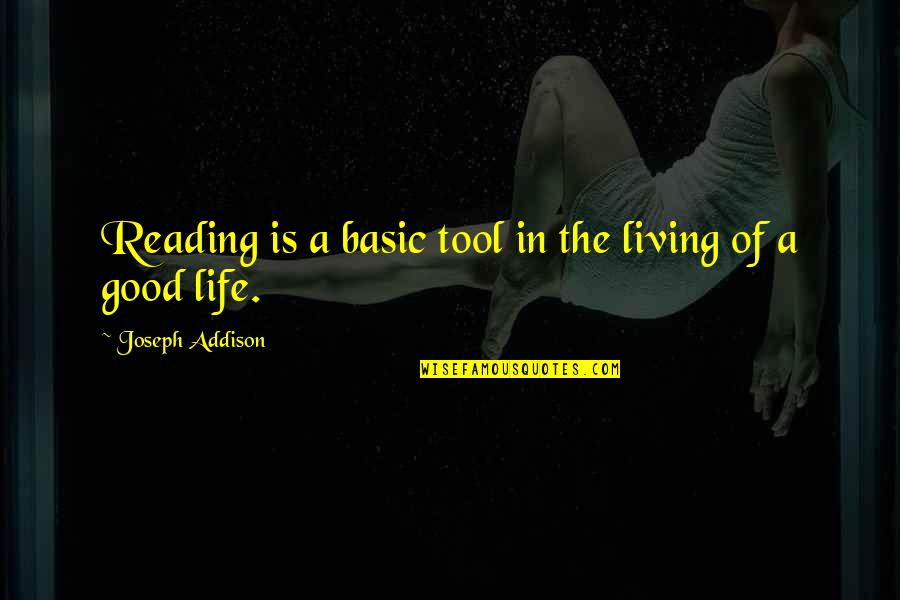 Personalised Wall Art Stickers Quotes By Joseph Addison: Reading is a basic tool in the living