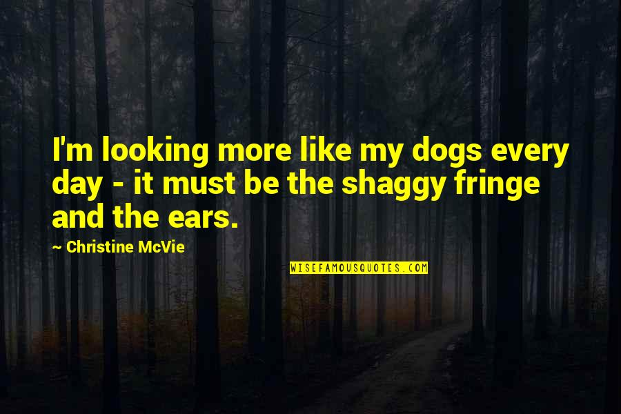 Pet Dogs Quotes By Christine McVie: I'm looking more like my dogs every day