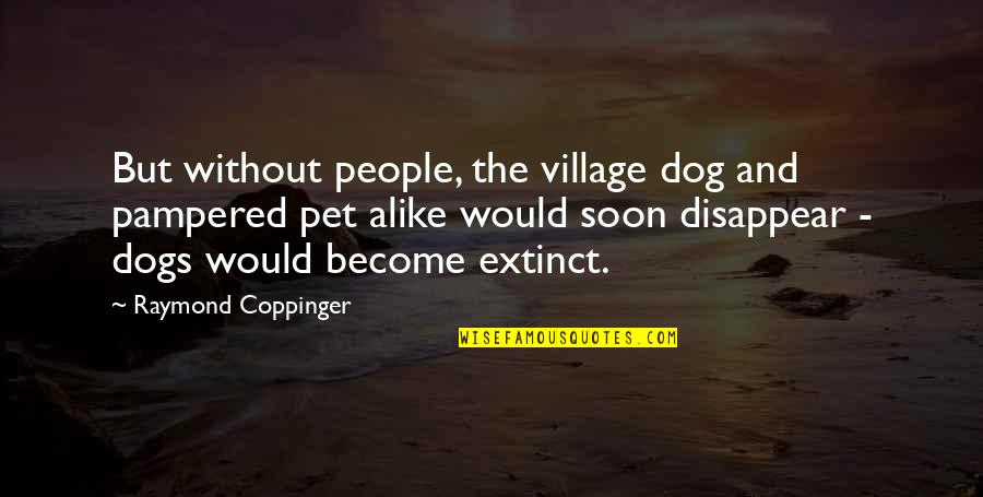 Pet Dogs Quotes By Raymond Coppinger: But without people, the village dog and pampered