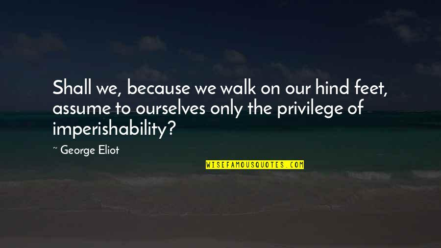 Pet Loss Quotes By George Eliot: Shall we, because we walk on our hind