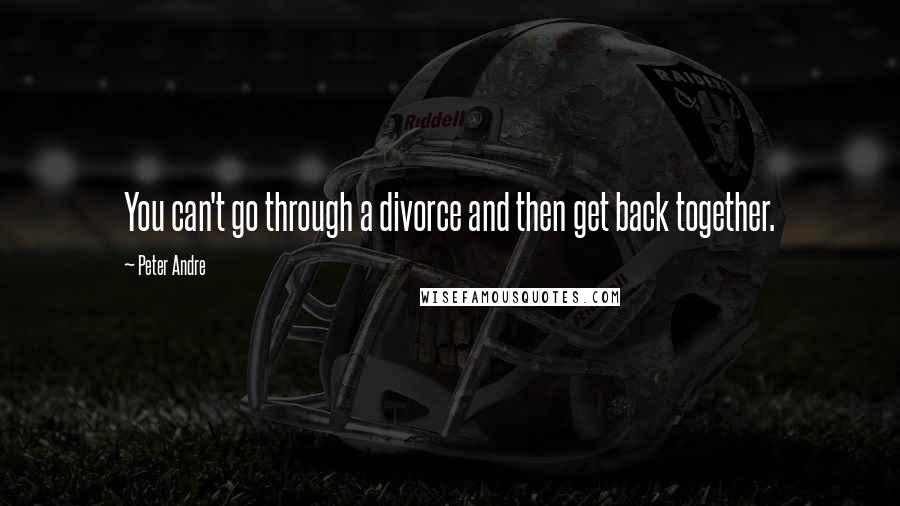 Peter Andre quotes: You can't go through a divorce and then get back together.