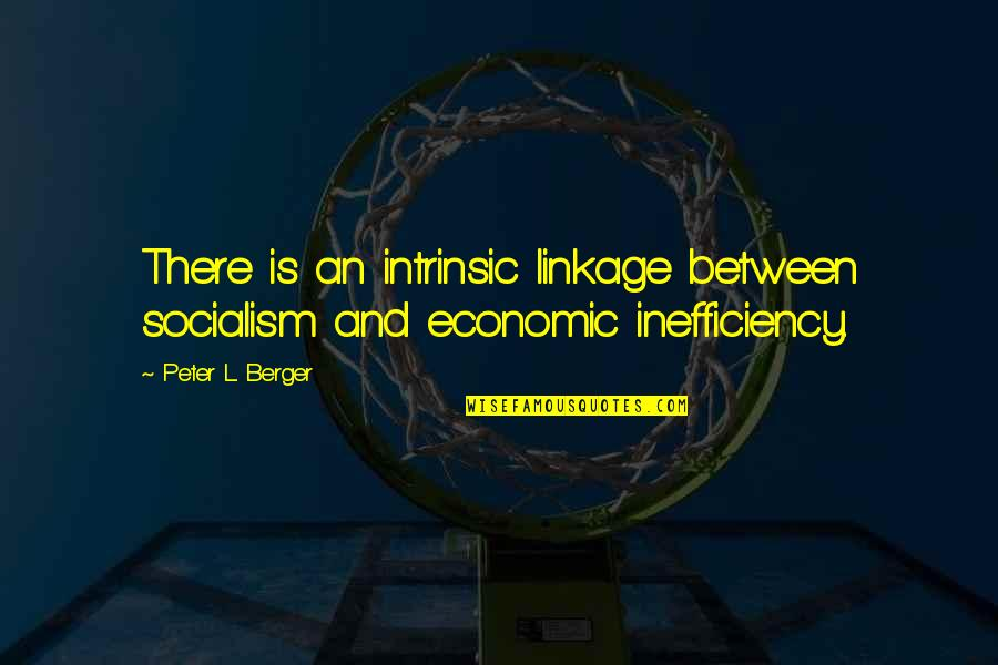 Peter Berger Quotes By Peter L. Berger: There is an intrinsic linkage between socialism and