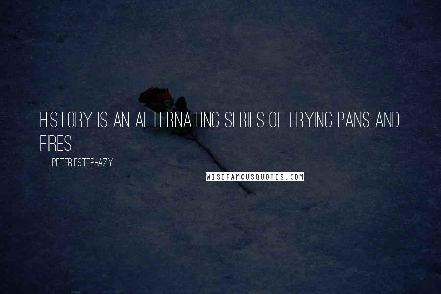 Peter Esterhazy quotes: History is an alternating series of frying pans and fires.