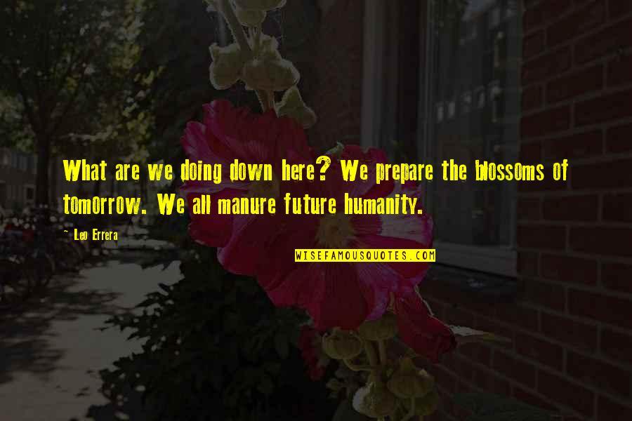 Peter Koestenbaum Quotes By Leo Errera: What are we doing down here? We prepare