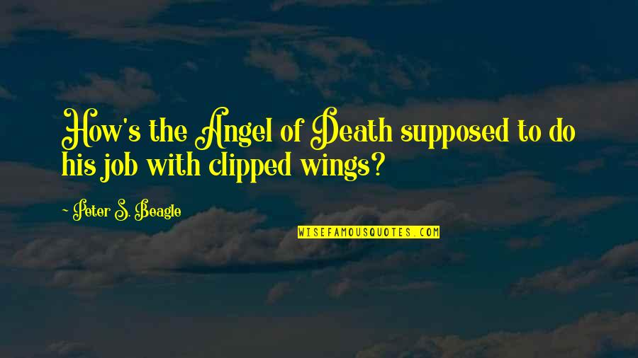 Peter S Beagle Quotes By Peter S. Beagle: How's the Angel of Death supposed to do