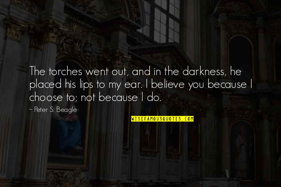 Peter S Beagle Quotes By Peter S. Beagle: The torches went out, and in the darkness,