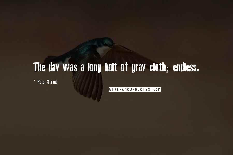 Peter Straub quotes: The day was a long bolt of gray cloth; endless.
