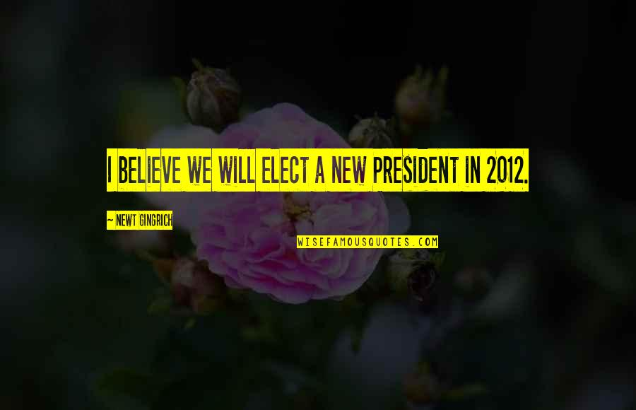 Petrichord Quotes By Newt Gingrich: I believe we will elect a new President