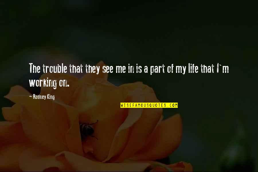 Pheromones Quotes By Rodney King: The trouble that they see me in is