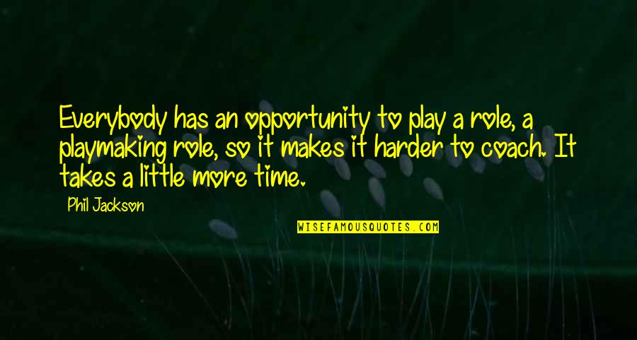Phil Jackson Quotes By Phil Jackson: Everybody has an opportunity to play a role,
