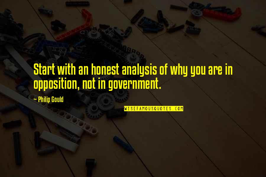 Philip Gould Quotes By Philip Gould: Start with an honest analysis of why you