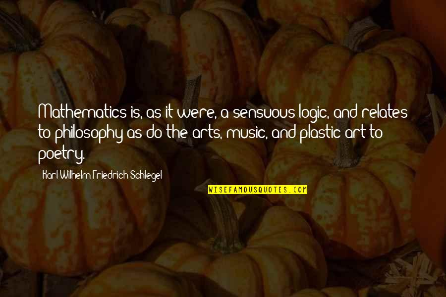 Philosophy And Mathematics Quotes By Karl Wilhelm Friedrich Schlegel: Mathematics is, as it were, a sensuous logic,