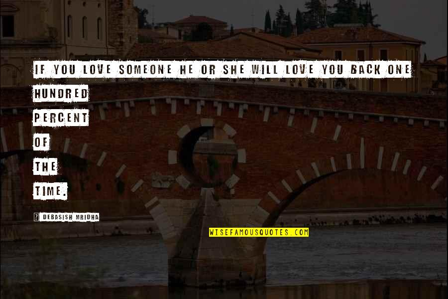 Philosophy Of Love Quotes By Debasish Mridha: If you love someone he or she will