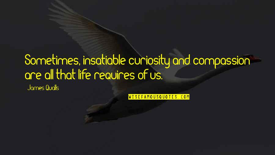 Philosophy Of Love Quotes By James Qualls: Sometimes, insatiable curiosity and compassion are all that