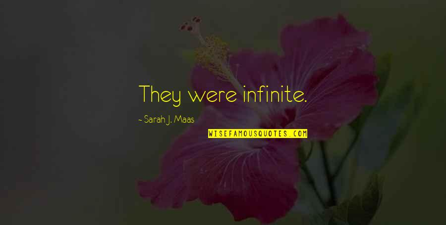 Photobucket Inspirational Quotes By Sarah J. Maas: They were infinite.