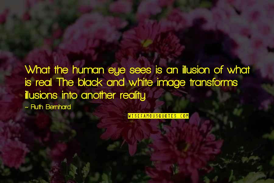 Photography Black And White Quotes By Ruth Bernhard: What the human eye sees is an illusion