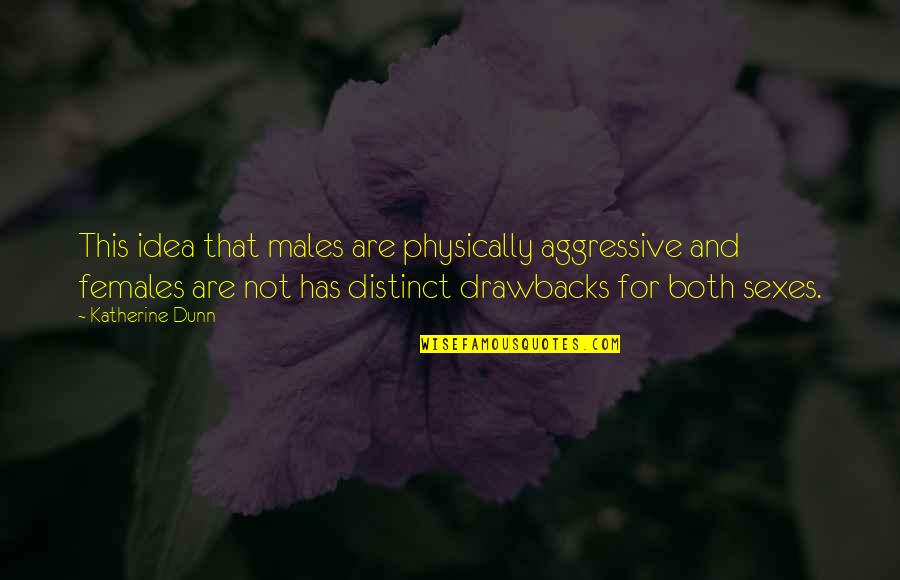 Physically Quotes By Katherine Dunn: This idea that males are physically aggressive and