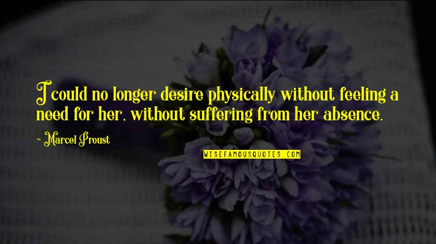 Physically Quotes By Marcel Proust: I could no longer desire physically without feeling