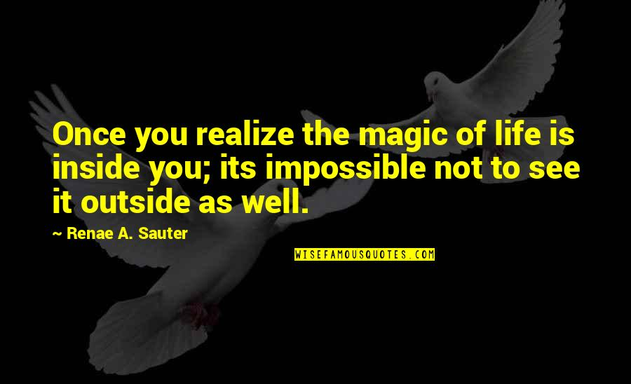Physics And Life Quotes By Renae A. Sauter: Once you realize the magic of life is