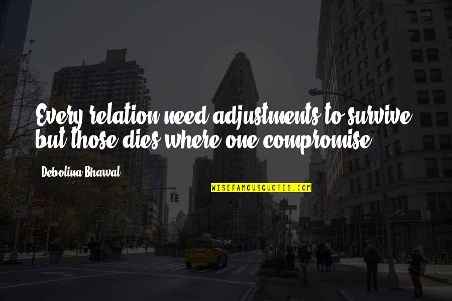 Picking Favorites Quotes By Debolina Bhawal: Every relation need adjustments to survive, but those