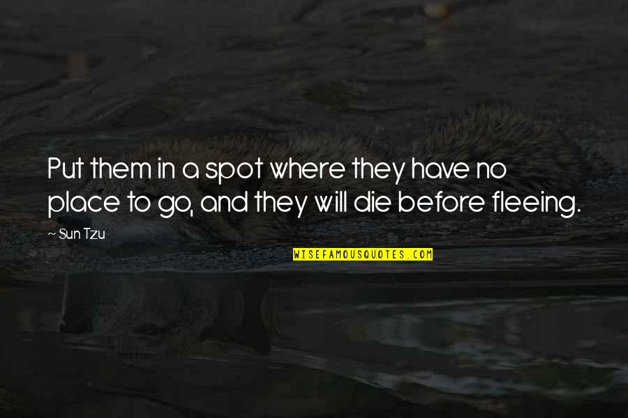 Picking Up Dog Poop Quotes By Sun Tzu: Put them in a spot where they have