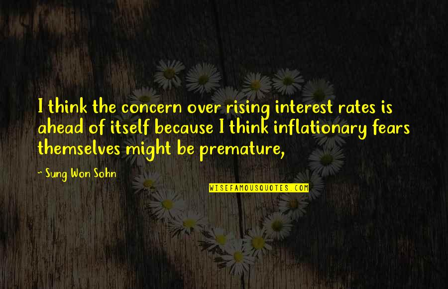Pics Of Emojis Quotes By Sung Won Sohn: I think the concern over rising interest rates