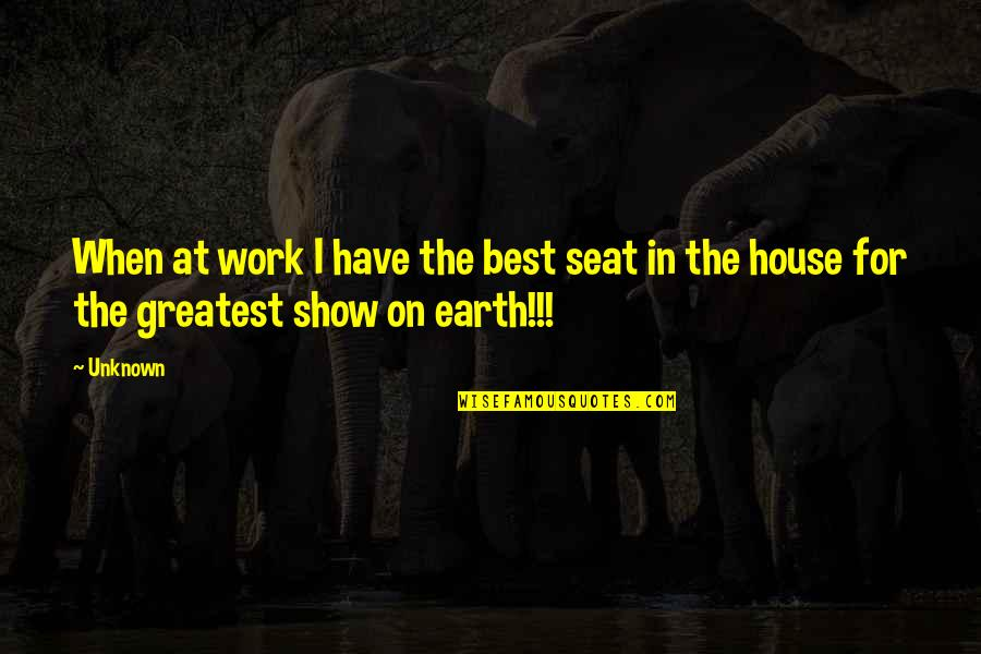 Pictures Telling Stories Quotes By Unknown: When at work I have the best seat