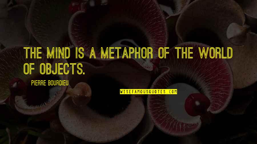 Pierre Bourdieu Quotes By Pierre Bourdieu: The mind is a metaphor of the world