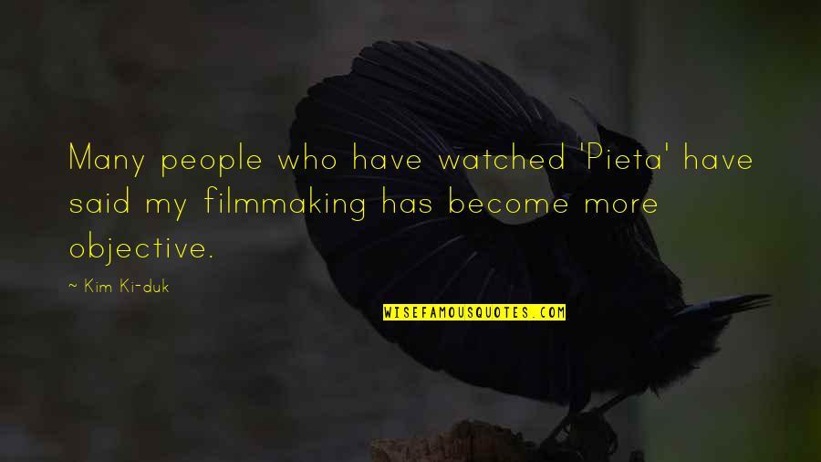 Pieta Kim Ki Duk Quotes By Kim Ki-duk: Many people who have watched 'Pieta' have said