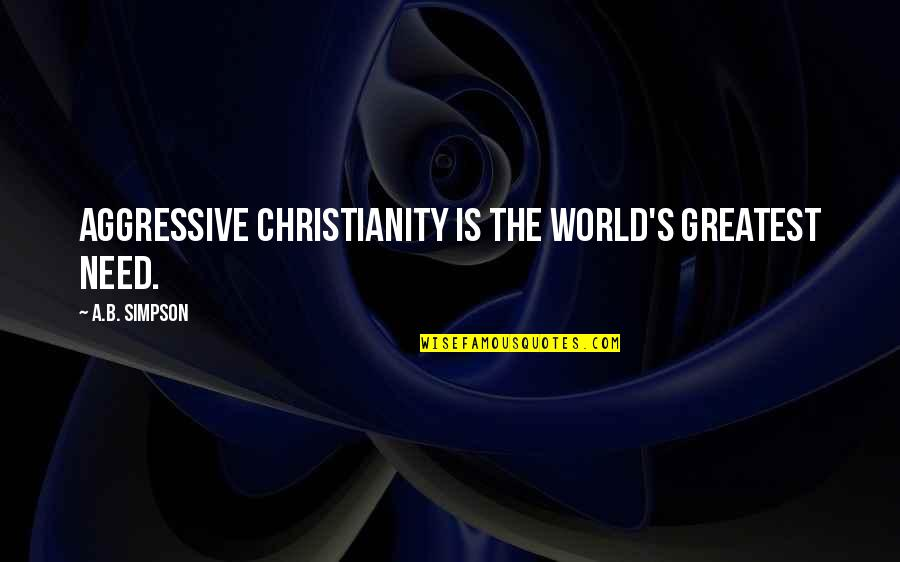 Pietro Badoglio Quotes By A.B. Simpson: Aggressive Christianity is the world's greatest need.