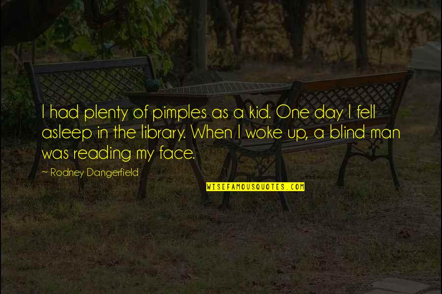 Pimples Quotes By Rodney Dangerfield: I had plenty of pimples as a kid.