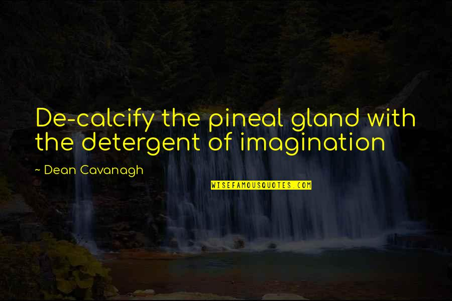 Pineal Gland Quotes By Dean Cavanagh: De-calcify the pineal gland with the detergent of